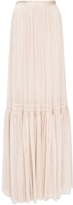 Needle & Thread Rose Beige Lace Tulle Maxi Skirt