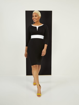 New York & Co. Tall Two-Toned Sheath Ponte Dress - Superflex