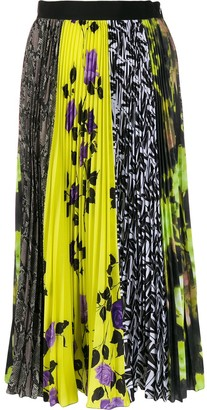 MSGM Panelled Pleated Skirt