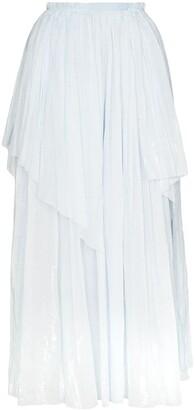 Vika Gazinskaya Asymmetric Crinkled Maxi Skirt