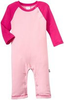 City Threads Rib Contrast Romper (Baby) - Pink/Hot Pink-3-6 Months