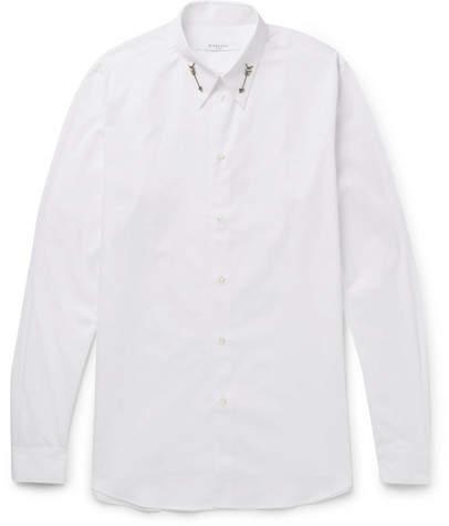 Givenchy Slim-Fit Arrow-Embellished Cotton-Poplin Shirt