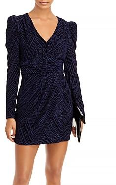 Aqua Puff Sleeve V-Neck Mini Dress - 100% Exclusive