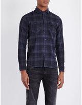 Replay Check-print Slim-fit Shirt