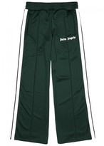 Palm Angels Green Cropped Jersey Jogging Trousers