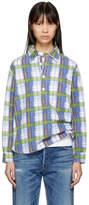 Visvim Blue Brushed Cotton Check Shirt