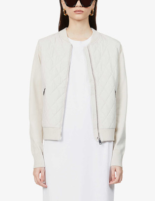 Reiss Ayla quilted jersey jacket