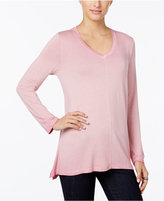 Style&Co. Style & Co Petite V-Neck Top, Only at Macy's