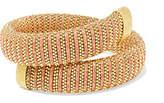 Carolina Bucci Caro Gold-plated And Lurex Bracelet - one size