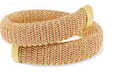 Carolina Bucci Caro Gold-plated And Lurex Bracelet