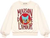 Gucci cat-print logo sweatshirt