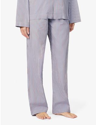 Tekla High-rise organic-cotton pyjama bottoms