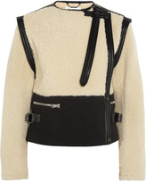 Chloé Shearling and Wool-Blend Jacket