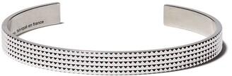 Le Gramme 23 Grammes Guilloche Pyramid Bracelet