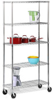 Honey-Can-Do 5-Tier Shelving Unit with Casters