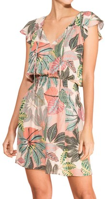 Parker Dorel Floral Silk Mini Dress