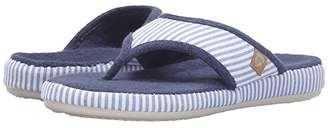 Acorn Thong Summerweight (Blue Stripe) Women's Slippers