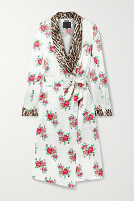 R13 - Printed Silk-satin Jacket - White
