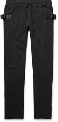 RtA Slim-Fit Tapered Webbing-Trimmed Loopback Cotton-Jersey Sweatpants