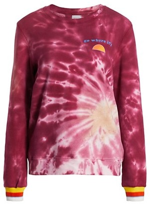 Warm Tie-Dye Laid Back Sweatshirt