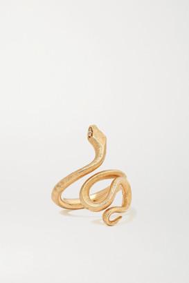 OLE LYNGGAARD COPENHAGEN Snake Medium 18-karat Gold Diamond Ring - 54