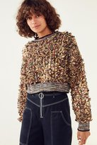 Kimchi & Blue Kimchi Blue Boucle Cropped Pullover Sweater