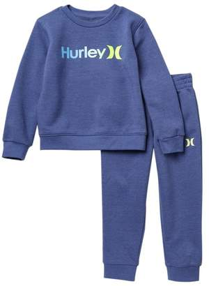 Hurley One and Only Crew Sweater & Joggers Set (Toddler Boys)