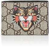 Gucci Men's Cat-Print GG Supreme Slim Billfold