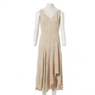Alexander McQueen Beige Tweed Dresses