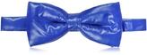 Forzieri Electric Blue Nylon Puffer Bow Tie