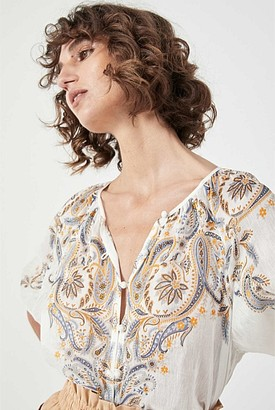 Witchery Paisley Print Shirt