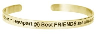 Queenberry Qina C. 'Side by Side or Miles Apart, Best Friends Are Always Connected by Heart' Adjustable Bracele