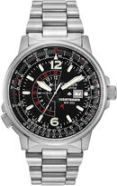 Citizen Eco-Drive Nighthawk Flight Mens Stainless Steel Watch BJ7000-52E