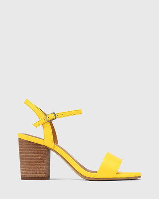 Wittner - Women's Yellow Sandals - Collin Leather Block Heel Ankle Strap Sandals - Size One Size, 37 at The Iconic