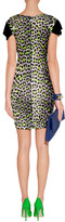 Just Cavalli Neon Lime/Black Leopard Print Dress