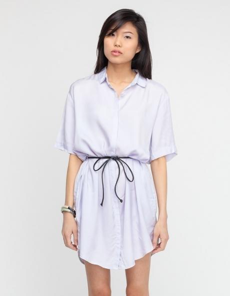 Cheap Monday Stevie Shirt Dress In Lilac