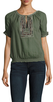 Joie Feray Cotton Embroidered Blouse