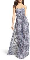 Amsale Women's Talisa Strapless Chiffon Gown