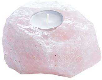 Indigo Rose Quartz CRYSTAL Tealight Candle Holder
