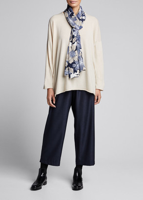 eskandar Cashmere A-Line Boat-Neck Sweater