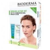 Bioderma Sebium Acne Kit for Sensitive, Oily, Acne-Prone Skin 2 pack