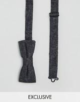 Reclaimed Vintage Inspired Black Bow Tie