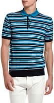 Etro Men's Striped Polo Shirt