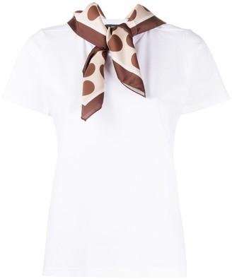 Jejia scarf detail crew-neck T-shirt