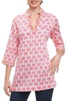 Foxcroft Printed V-Neck Pullover Tunic