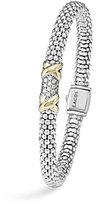 Lagos Diamond Lux 18K Gold and Sterling Silver Bracelet with Pave Diamonds