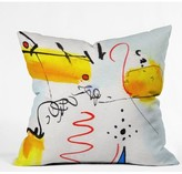 "Deny Designs Ginette Fine Art Community Gathering Outdoor Throw Pillow Size: 16"" H x 16"" W x 4"" D"