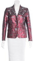 Dries Van Noten Brocade Long Sleeve Blazer