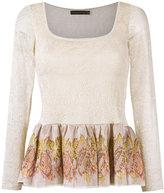 Cecilia Prado knitted peplum blouse