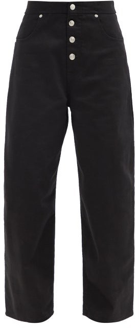 MM6 MAISON MARGIELA High-rise Cropped Boyfriend Jeans - Black
